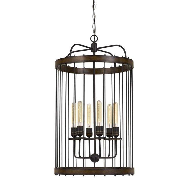 CAL Lighting Cantania 60W x 6 metal pendant fixture  (Edison bulbs not included)