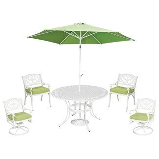 homestyles® Sanibel White 6 Piece Outdoor Dining Set - 6652-30856C