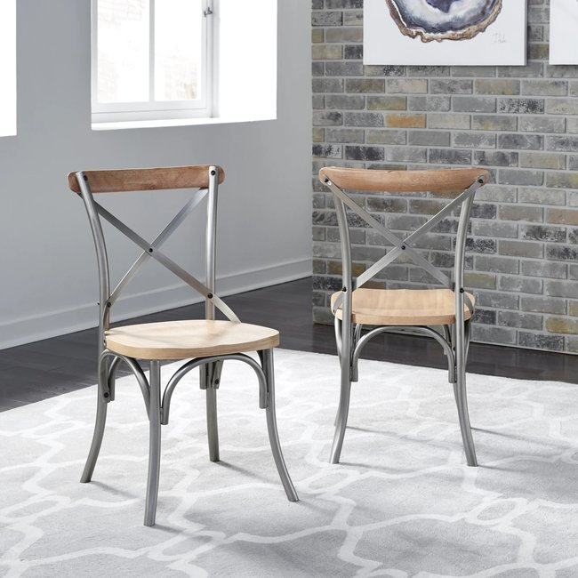 homestyles® French Quarter Off-White Chair (Set of 2) - 5064-802