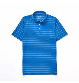 The Sporting Gent TSG Barrier Striped Polo (Royal w/ White)