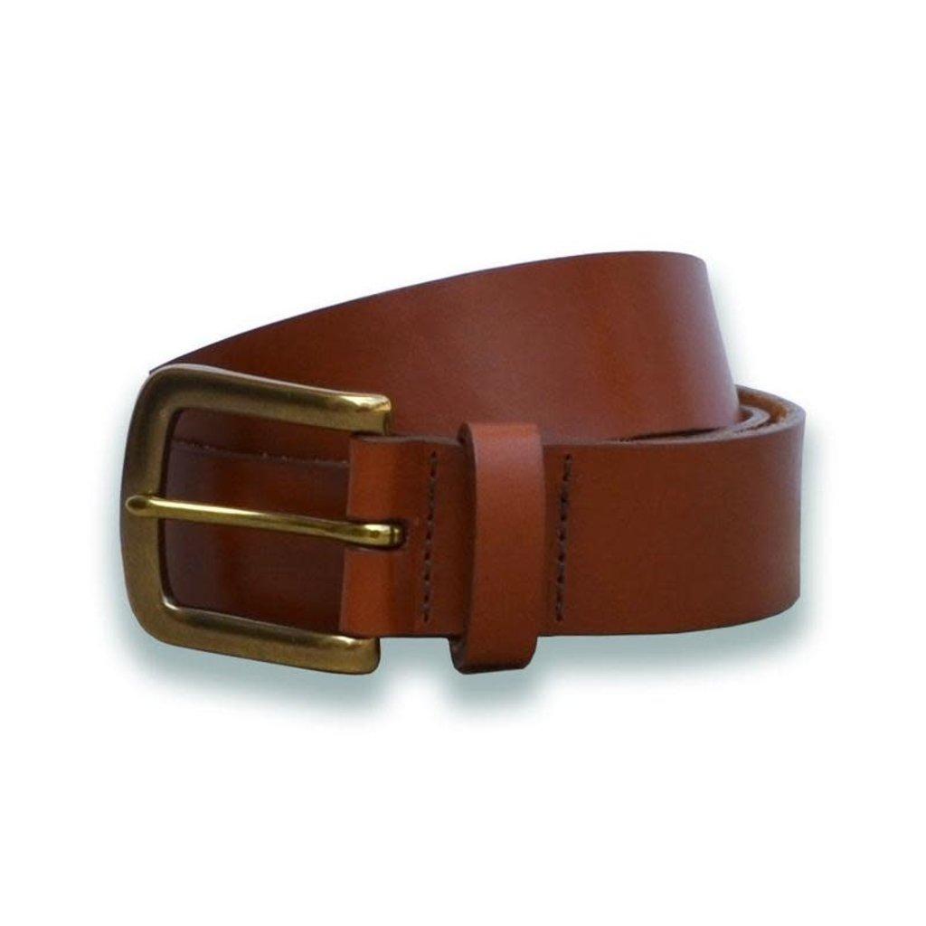 The Sporting Gent TSG Harness Leather Belt (Cognac/Antique Brass)