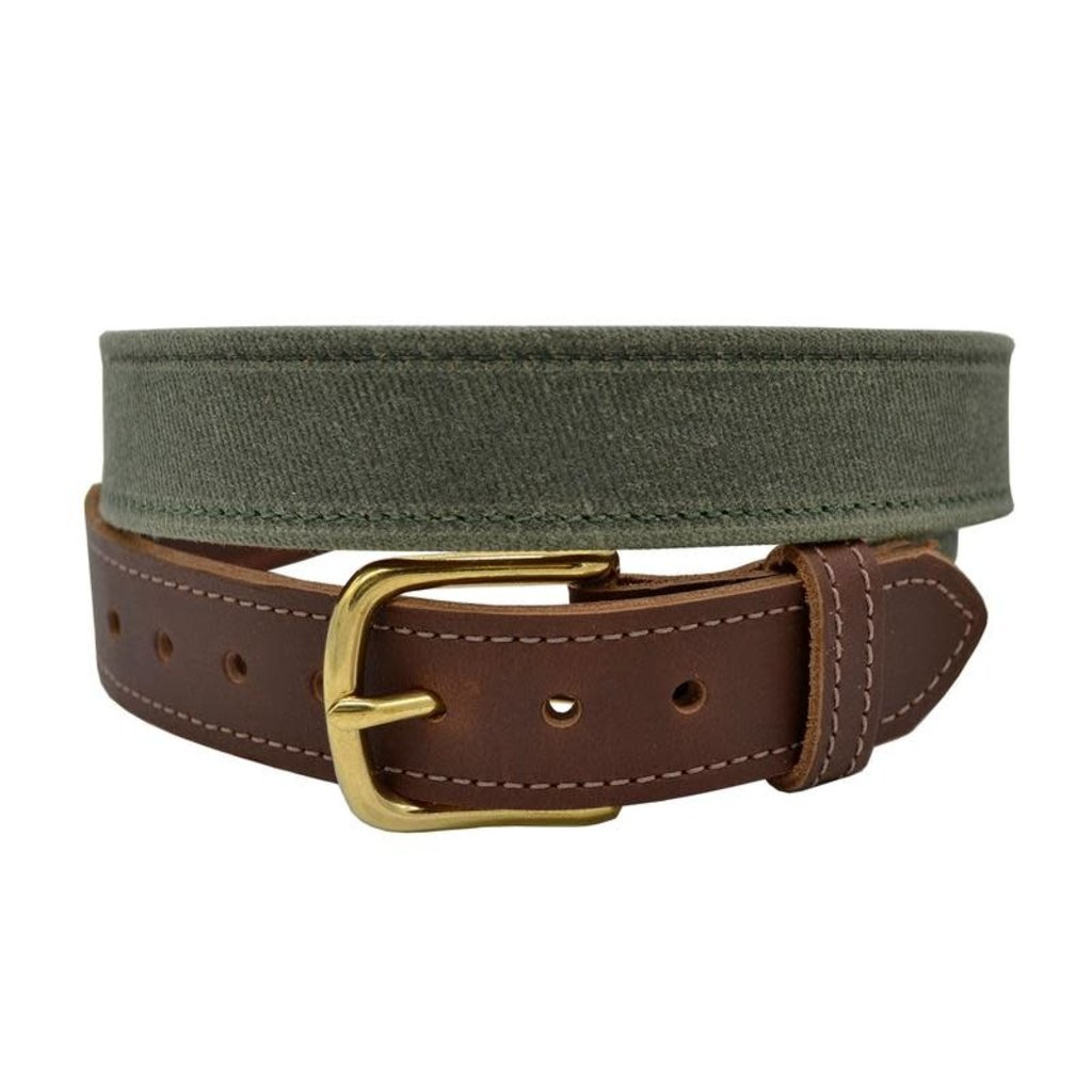 The Sporting Gent TSG Waxed Cotton & Leather Field Belt