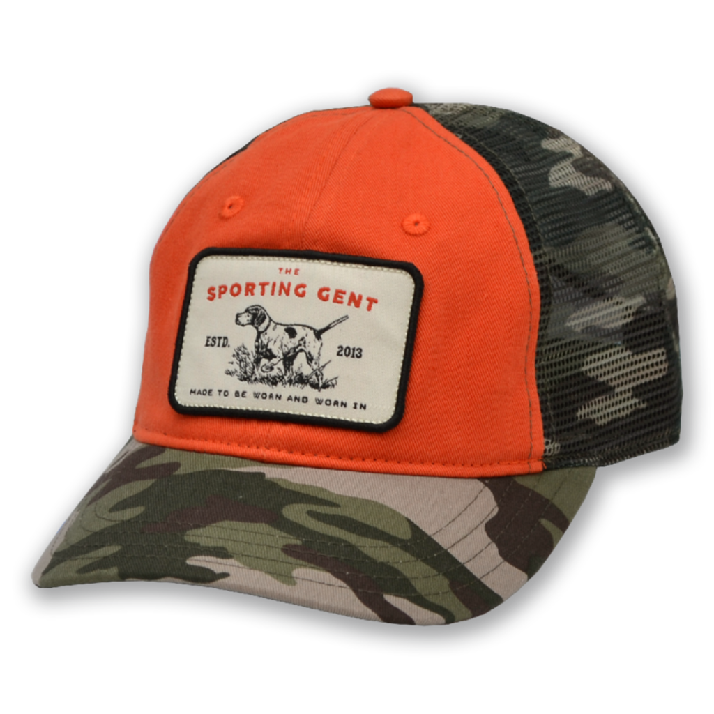 The Sporting Gent Pointer Patch Hat - Camo/Blaze