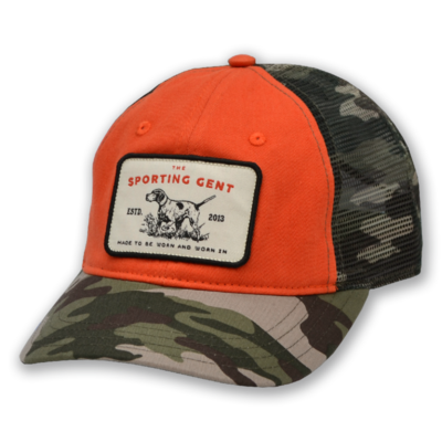 The Sporting Gent Pointer Patch Hat (Camo/Blaze)