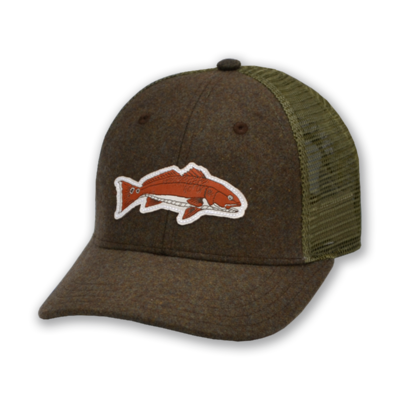 The Sporting Gent Bronzer Patch Hat - Forest Green Flannel