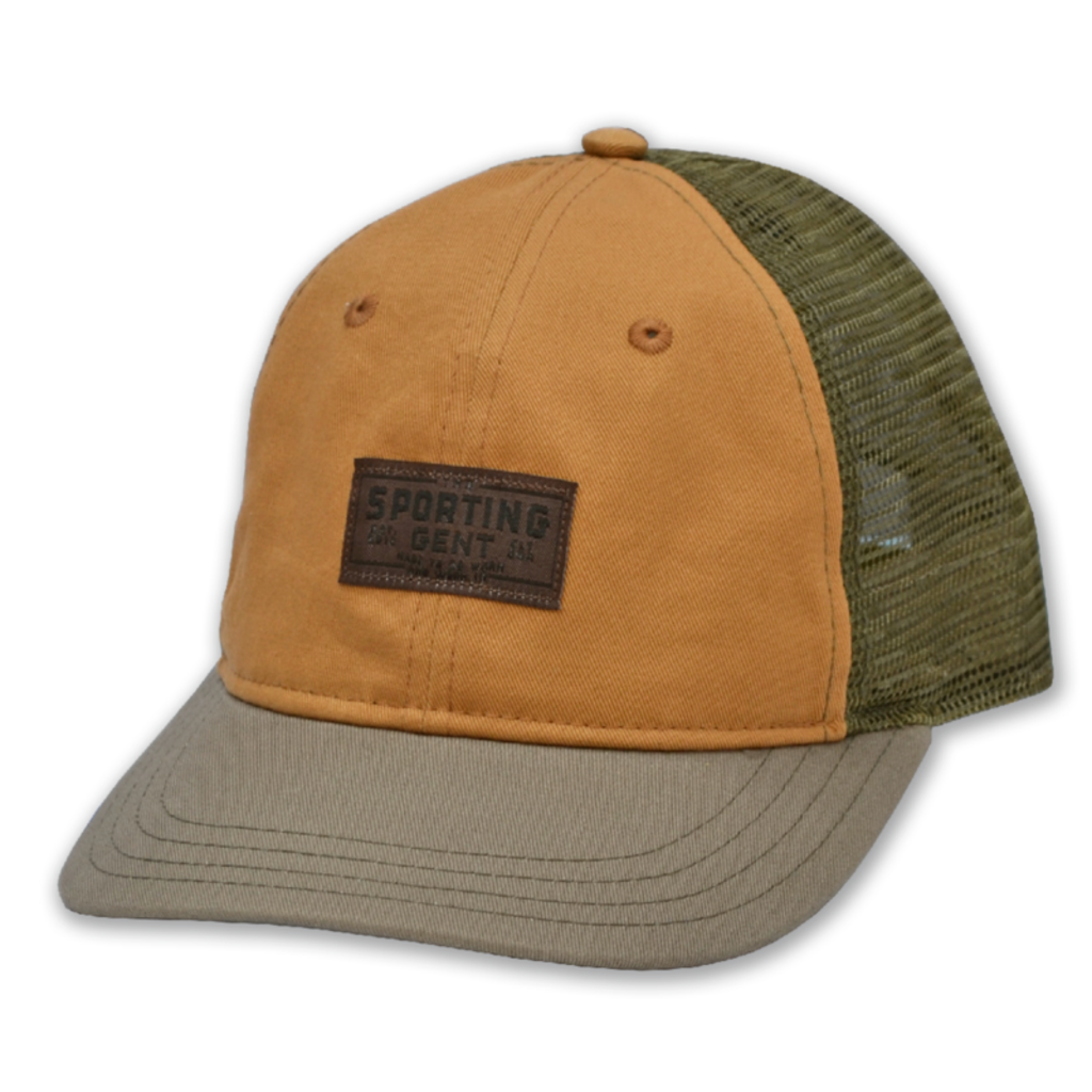 The Sporting Gent Traditions Patch Hat (Sage/Field Brown)