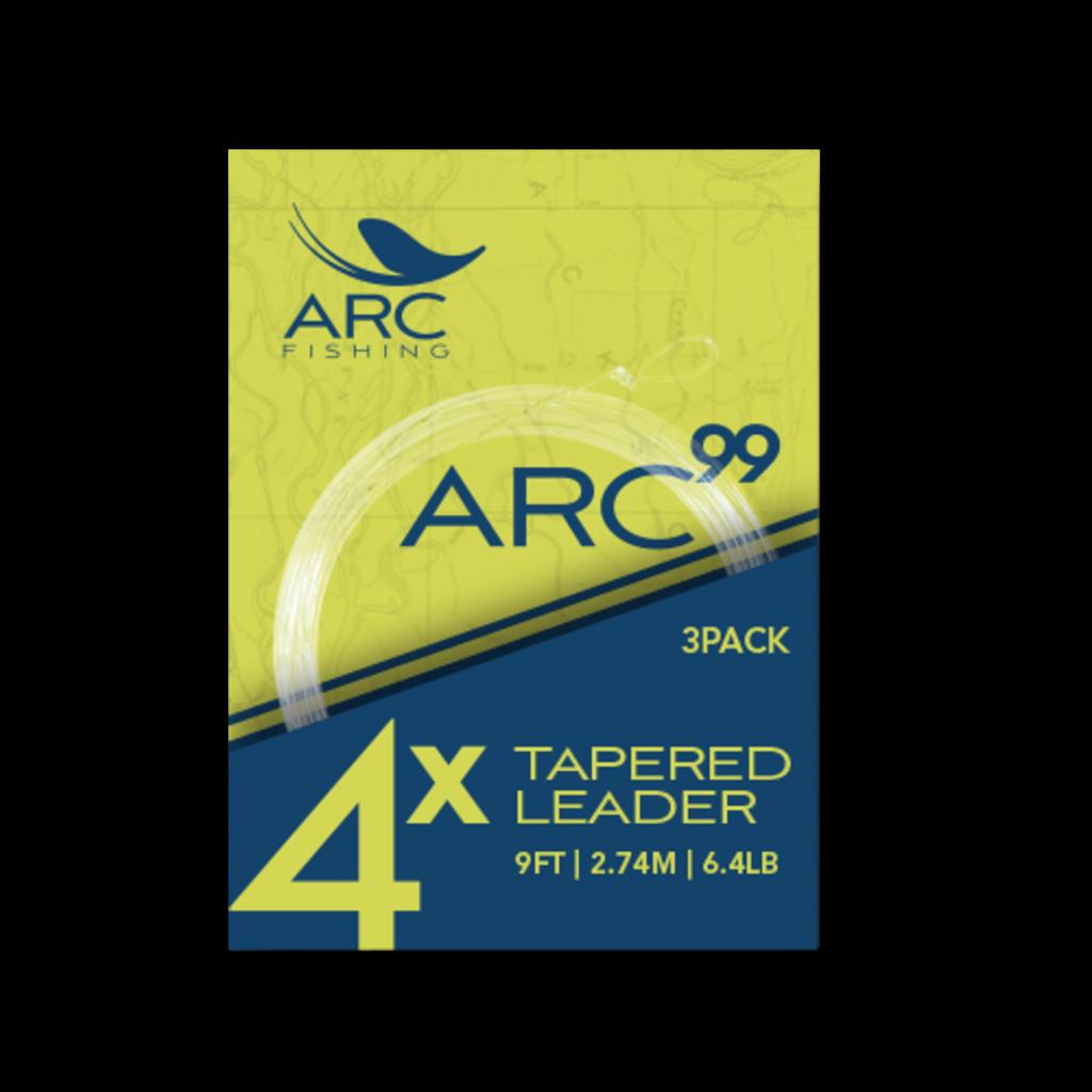 ARC Fishing ARC Fishing 99 Knotless Leaders - 9ft - 3pk - 4X