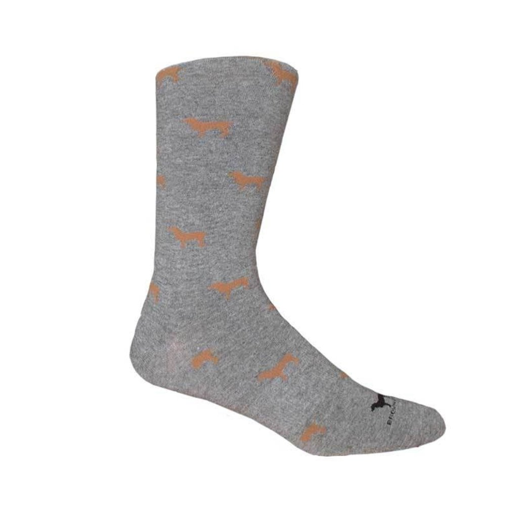 Brown Dog Hosiery Co. Brown Dog Hosiery Beau Socks - Lt Grey Heather