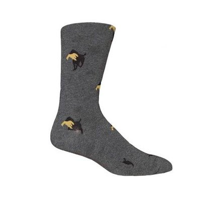 Brown Dog Hosiery Co. Brown Dog Hosiery Church Socks - Grey Heather