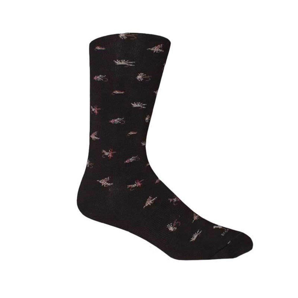 Brown Dog Hosiery Co. Brown Dog Hosiery Maggie Valley Socks - Black
