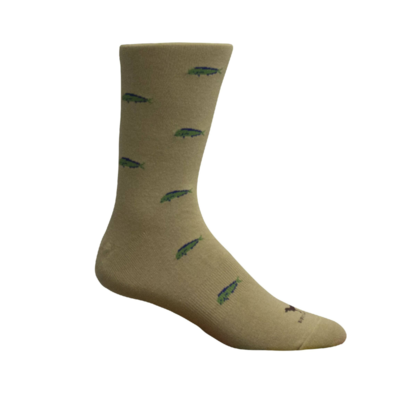 Brown Dog Hosiery Co. Brown Dog Hosiery Mahi Socks - Khaki
