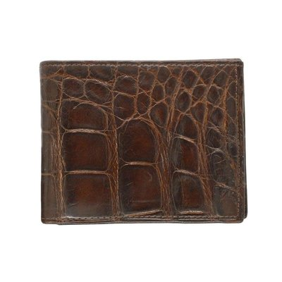 George Campsen Original Brown Gator Bi-Fold Wallet