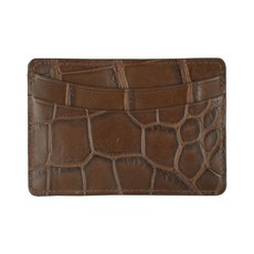 George Campsen Original Brown Gator Card Holder