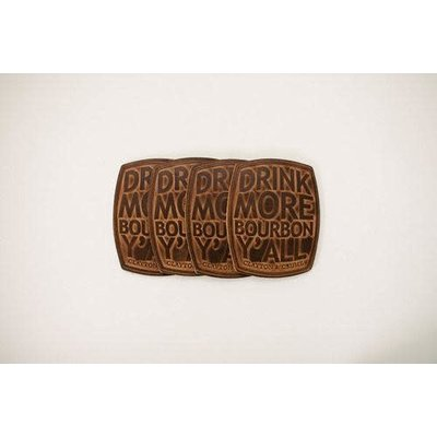 Clayton & Crume Clayton & Crume Bourbon Barrel Coaster Set