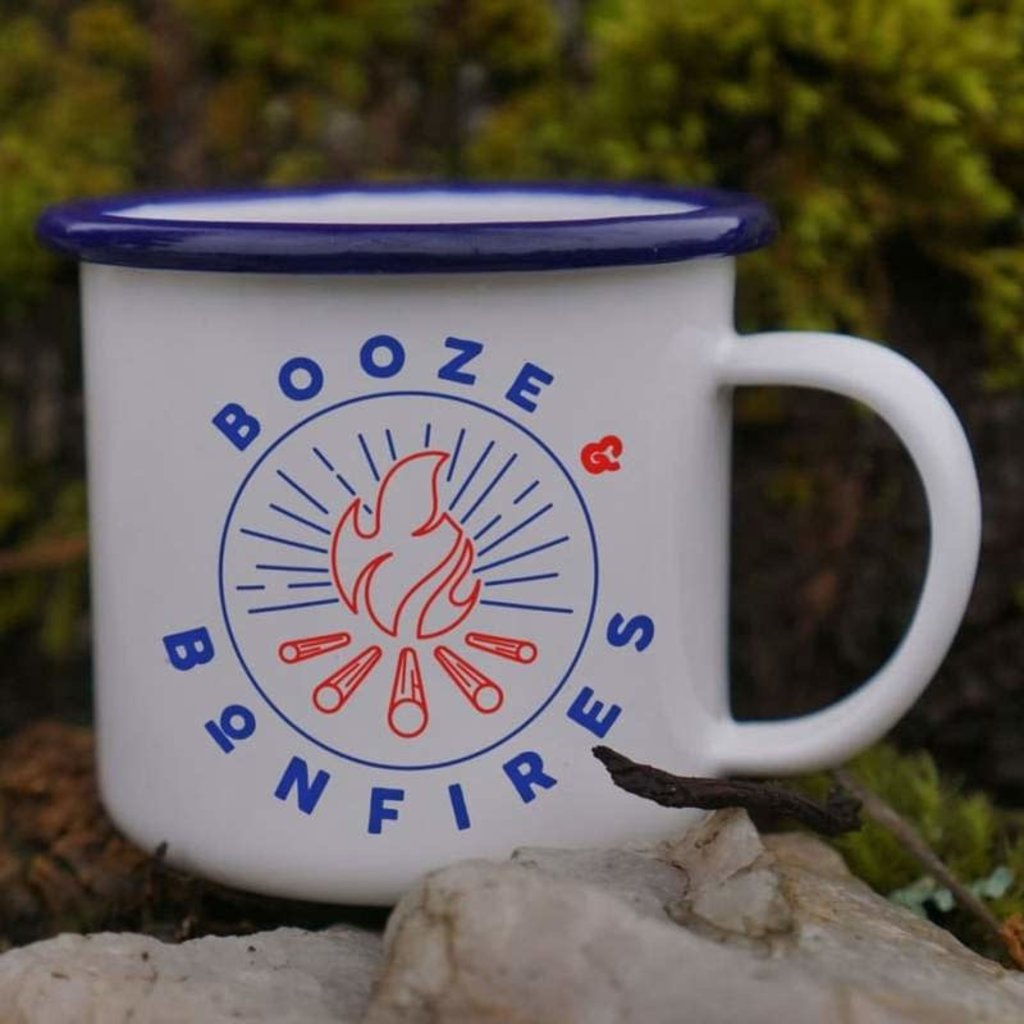 Faire Enamel Co. Booze & Bonfires 12 oz. Enamel Mug