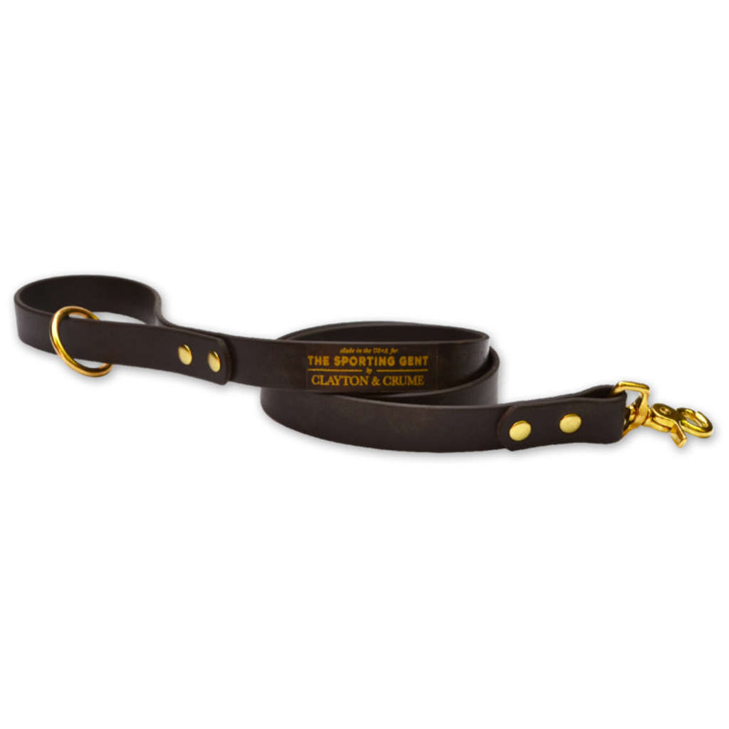 The Sporting Gent Field Dog Lead - Hunters Brown