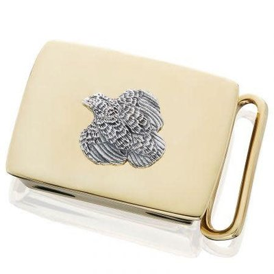 Grainger McKoy Grainger McKoy Quail Belt Buckle - Sterling on Brass