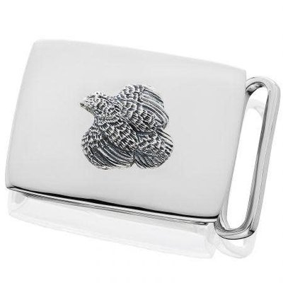 Grainger McKoy Grainger McKoy Quail Belt Buckle - Sterling on Sterling