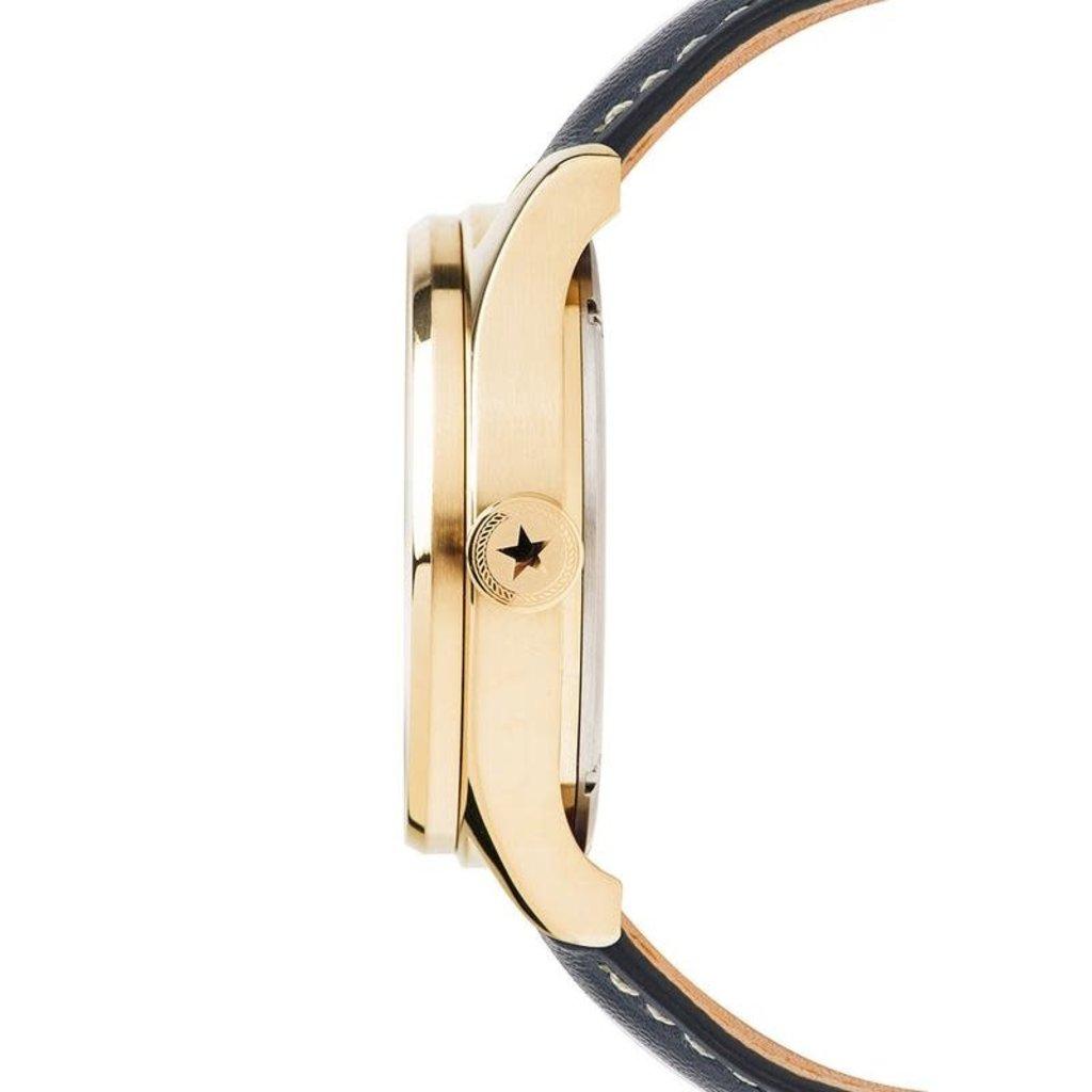 Jack Mason Jack Mason Nautical Chronograph Watch 42mm (White Dial w/ Navy Leather Strap)