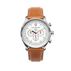 Jack Mason Jack Mason Nautical Chronograph Watch 42mm (White Dial w/ Tan Leather)