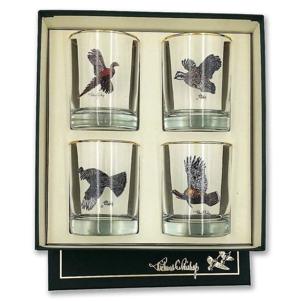 Richard E. Bishop Ltd. Richard E. Bishop Double Old Fashioned Set - Upland Birds