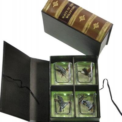 Richard E. Bishop Ltd. Richard E. Bishop Storage Box w/ Glasses - Waterfowl