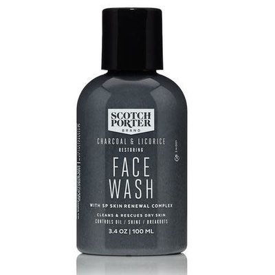 Scotch Porter Scotch Porter Charcoal & Licorice Restoring Face Wash - 3.4 oz.