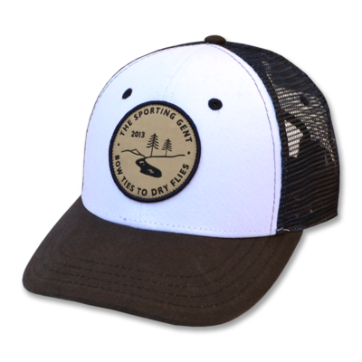 The Sporting Gent The Block & Tackle Trucker Hat - Blue & White