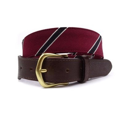 F.H. Wadsworth FH Wadsworth Leather Belt - Quaker