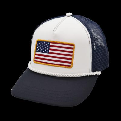 The Sporting Gent Merica Trucker Hat - Navy & White