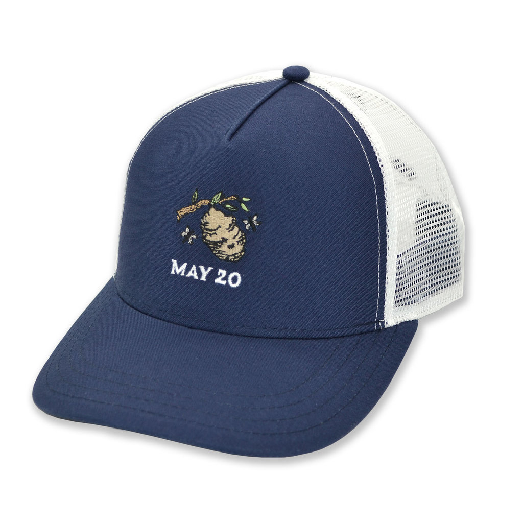 The Sporting Gent Hornets Nest Trucker - Navy/White