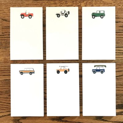 Holly Graham Fine Art Holly Graham Vintage SUV Notepads