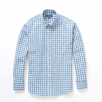 The Sporting Gent TSG Button Down - Steel Blue & White