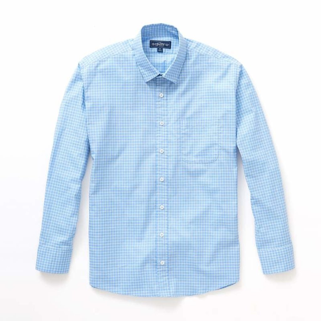 The Sporting Gent TSG Button Down Shirt - Blue & Seagrass