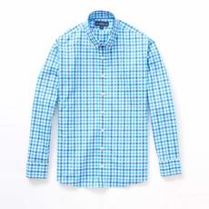 The Sporting Gent TSG Button Down Shirt - Royal & Carolina