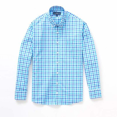 The Sporting Gent TSG Button Down Shirt - Royal & Carolina