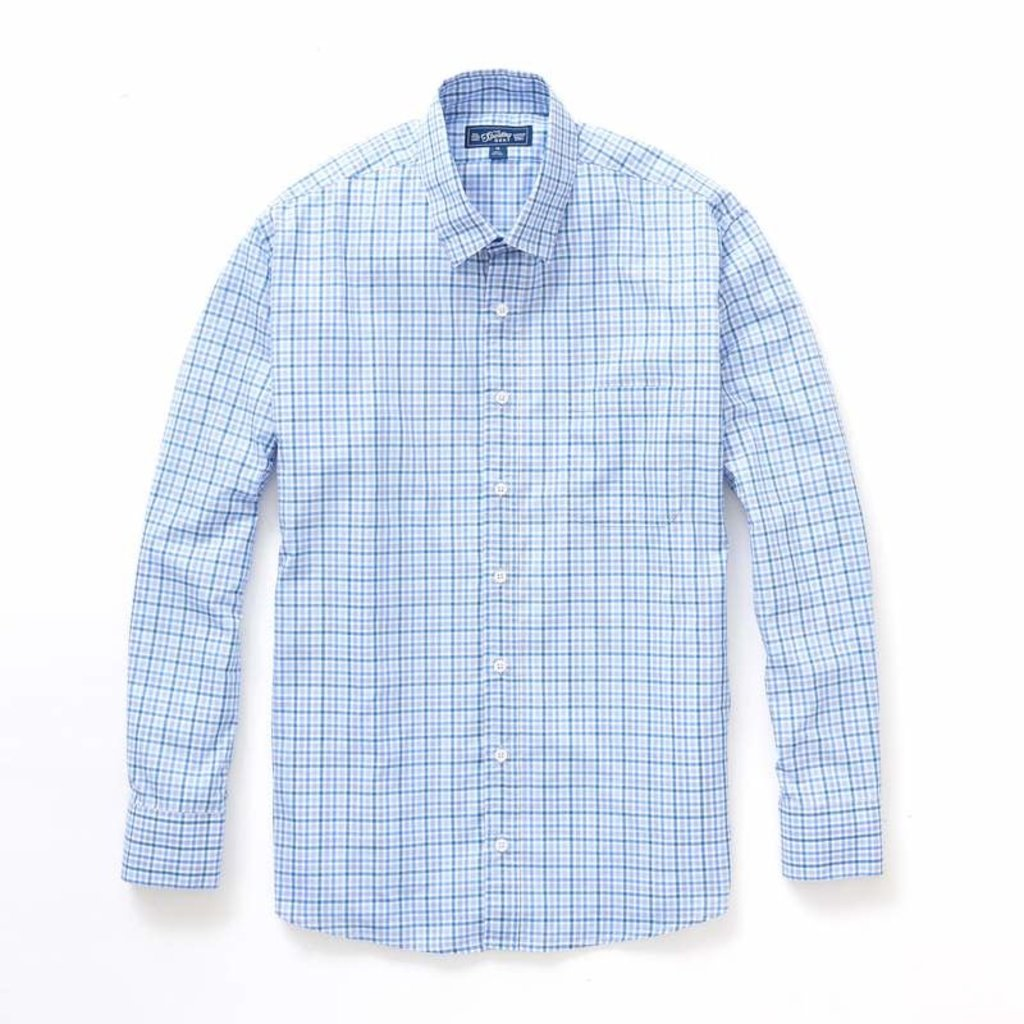The Sporting Gent TSG Button Down Shirt - Steel Blue & Royal