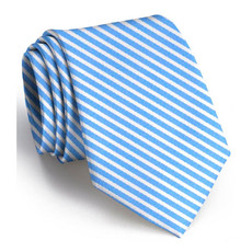 Bird Dog Bay Bird Dog Bay Chapman Stripe Necktie - Light Blue