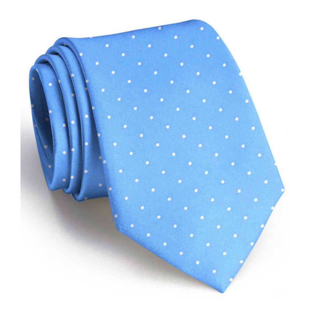 Bird Dog Bay Bird Dog Bay Classic Spots Necktie - Light Blue