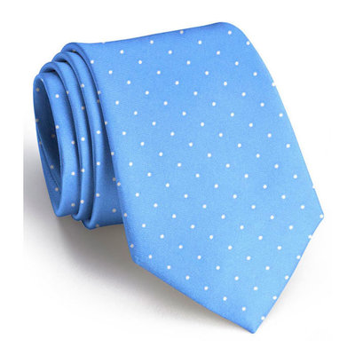 Bird Dog Bay Bird Dog Bay Classic Spots Necktie - Light Blue