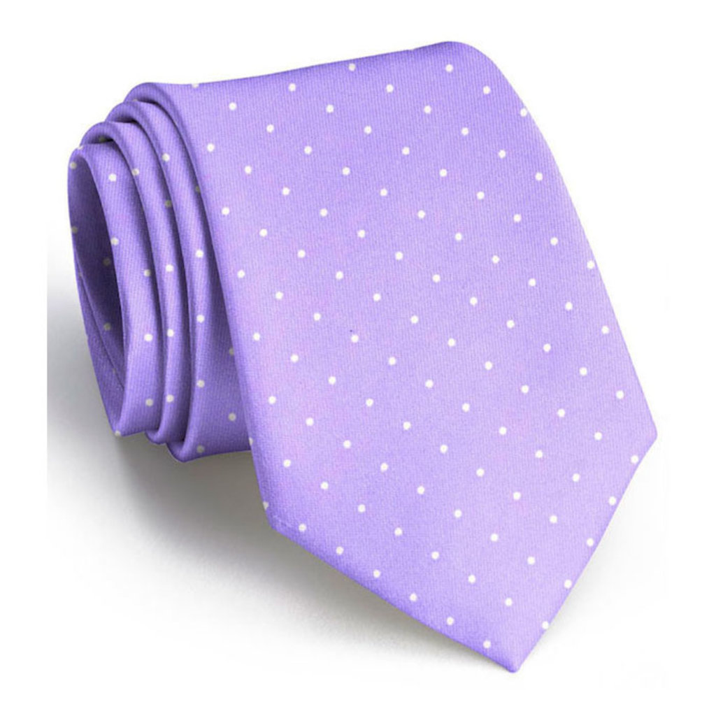 Bird Dog Bay Bird Dog Bay Classic Spots Necktie - Violet