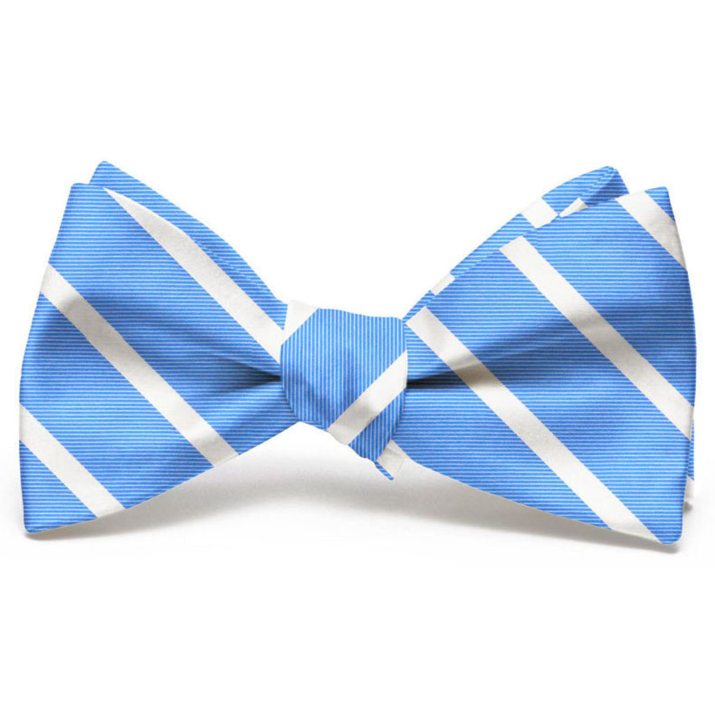 Bird Dog Bay Bird Dog Bay Beau Brummel Stripe Bow Tie - Light Blue
