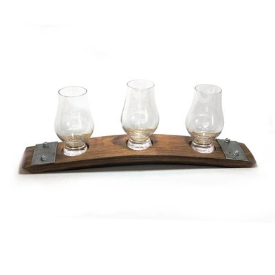 Faire Bourbon Barrel Wood Premium Glencairn Glass Flight