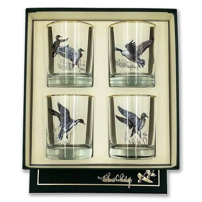 Richard E. Bishop Ltd. Richard E. Bishop Double Old Fashioned Set - Waterfowl
