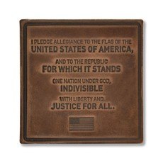 The Sporting Gent Pledge of Allegiance Leather Coaster Set