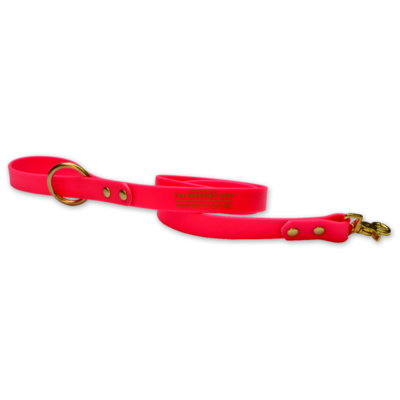 The Sporting Gent Field Dog Lead - Pink