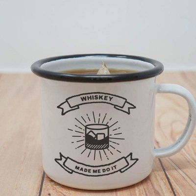 Faire Enamel Co. Whiskey Made Me Do It 12 oz. Enamel Mug