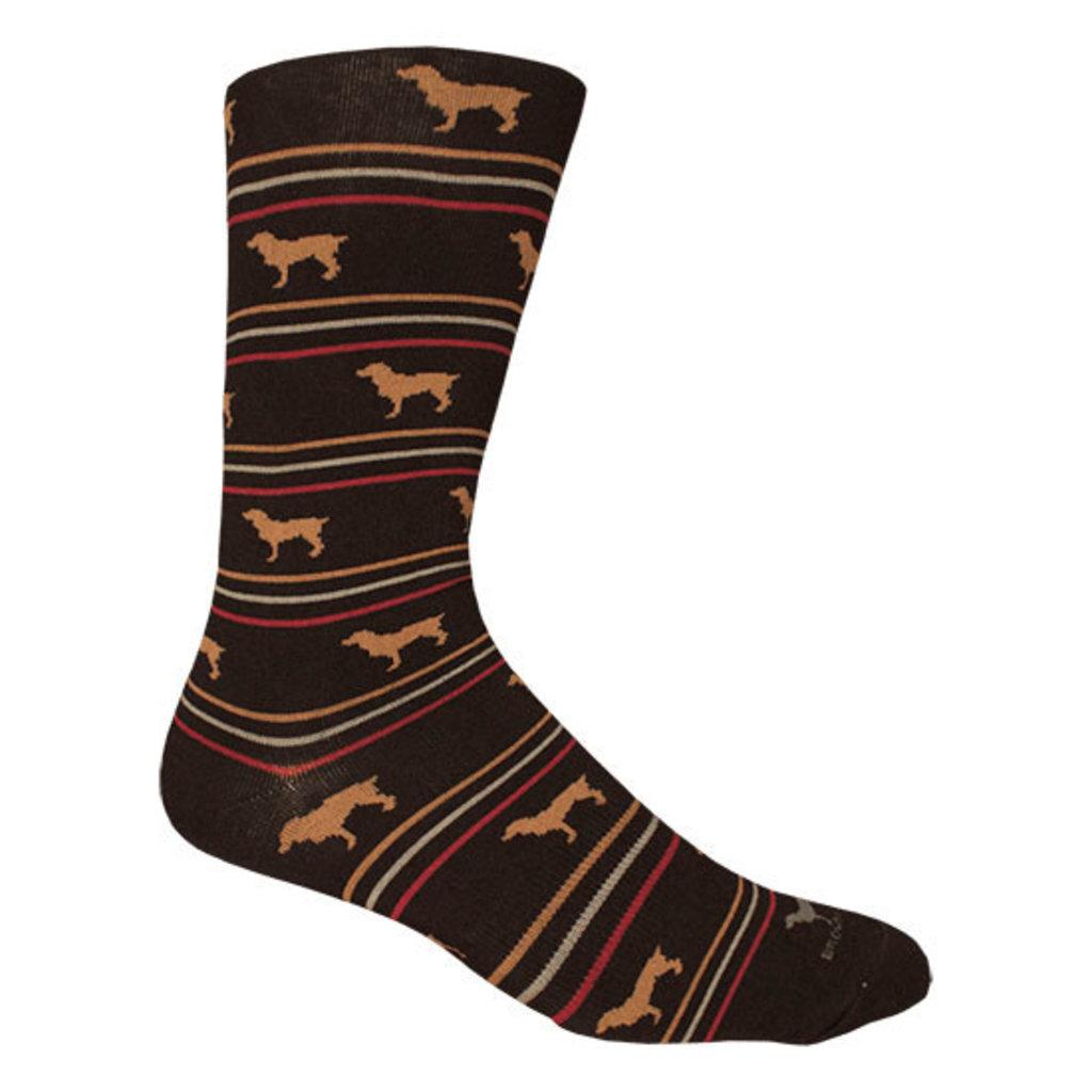 Brown Dog Hosiery Co. Brown Dog Hosiery Boykin Stripe Socks - Black