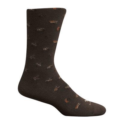 Brown Dog Hosiery Co. Brown Dog Hosiery Maggie Valley Socks - Brown