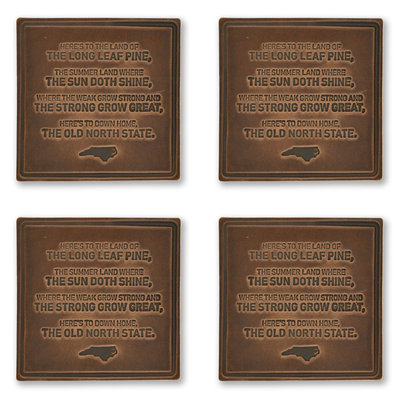 The Sporting Gent Old North State Leather Coaster Set